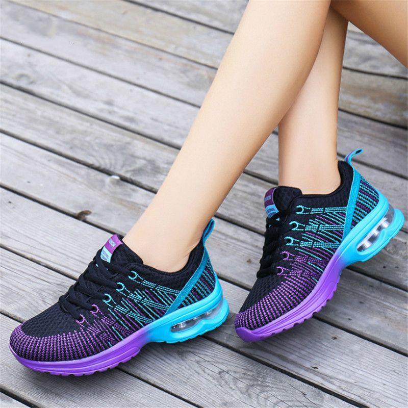 2019 Casual 2018 Fashion Korean Women Air Cushion Shoes Tenis Feminino Casual  Shoes Outdoor Walking Shoes Women Flats Lace Up Ladies Sneaker Black Shoes  ... 0dc6d7bf764d