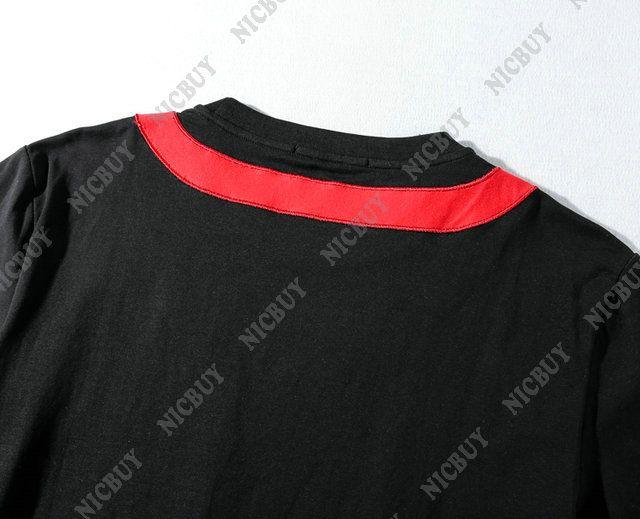Moda tasarımcısı lüks marka yaz t-shirt erkekler patchwork bez nakış yıldız pamuk yuvarlak boyun tshirt tee kadın pamuk avrupa t ...