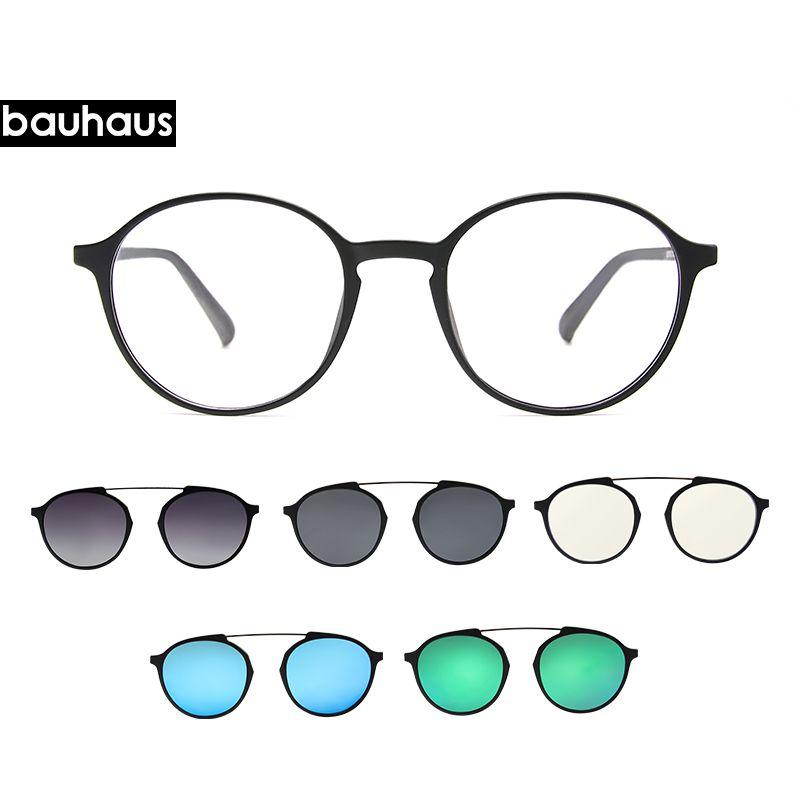 2018 Bauhaus Newest Four Lens Italy Design Magnet Sunglasses . Woman ...