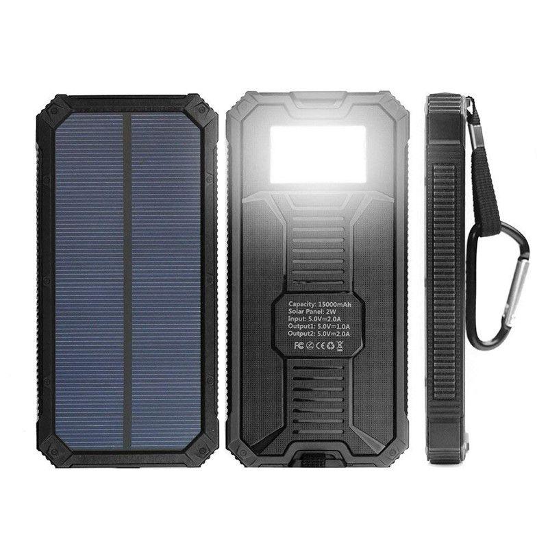 2019 solar battery charger solar charger 15000mah dual usb portable rh dhgate com