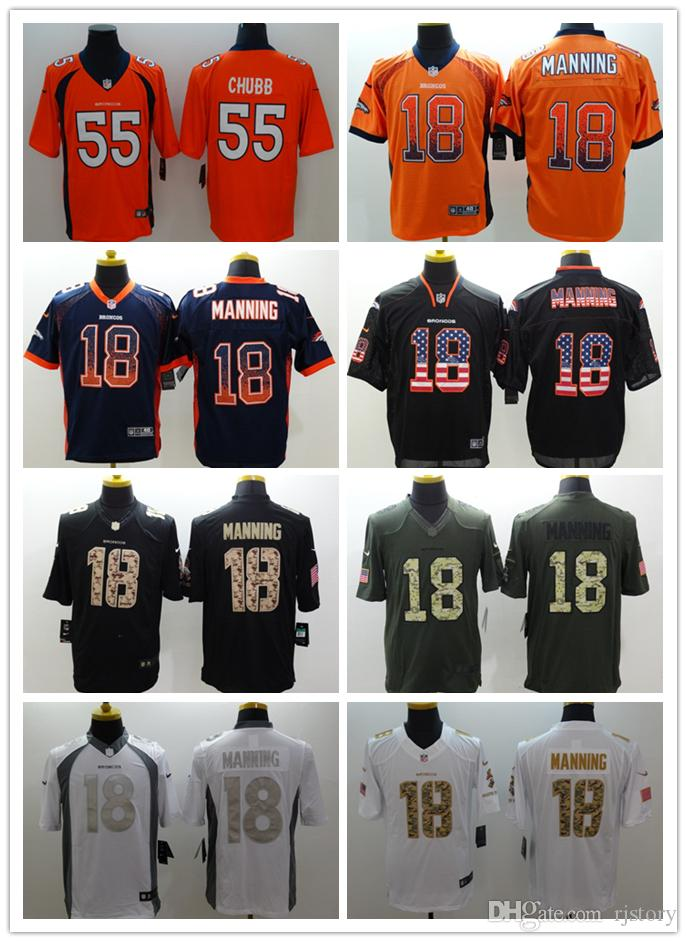 36730f89a ... coupon 2018 2018 2019 men denver broncos 18 peyton manning football  jerseys stitched embroidery 24 peyton
