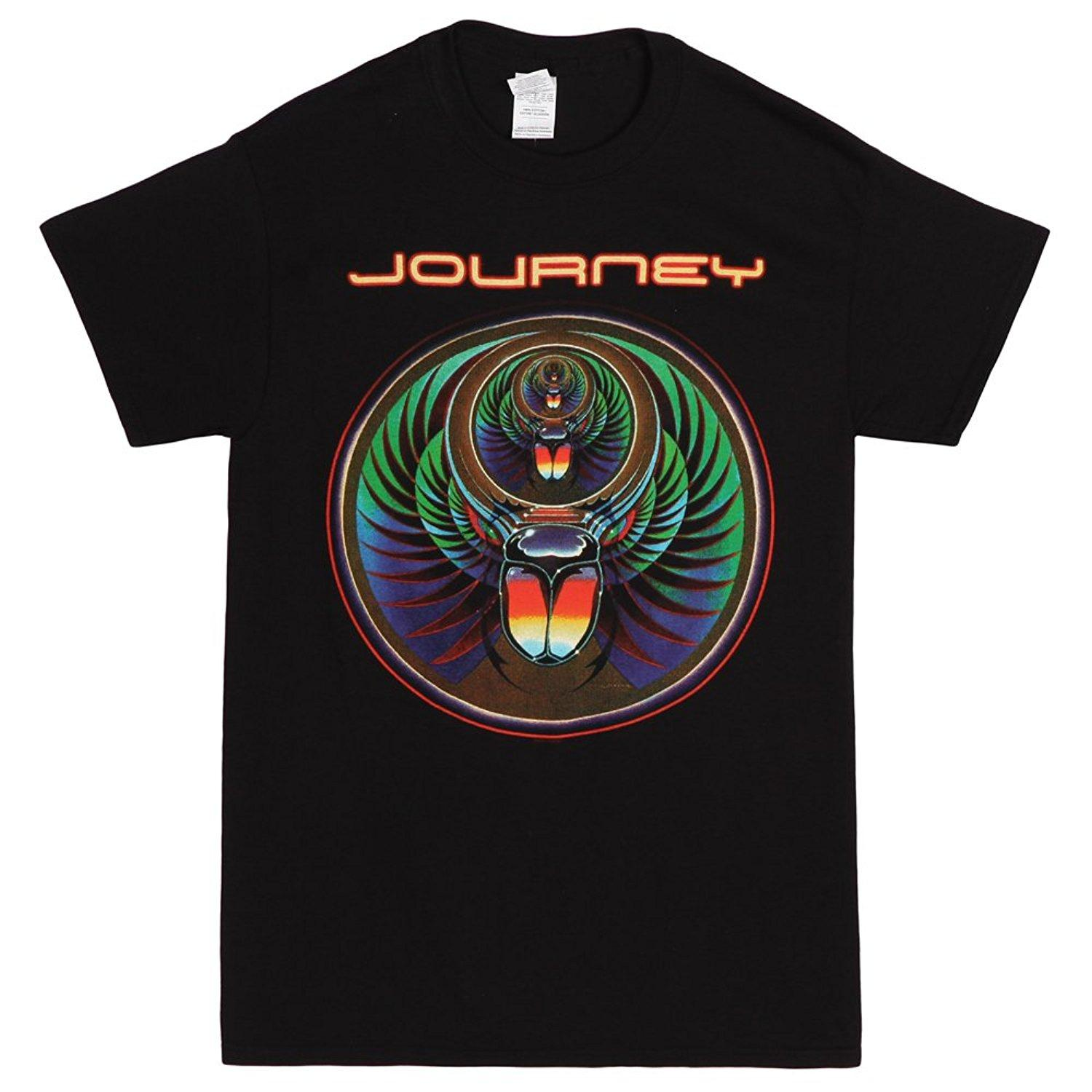 Venta al por mayor Descuento Journey Scarab Logo Adult Black T-shirt