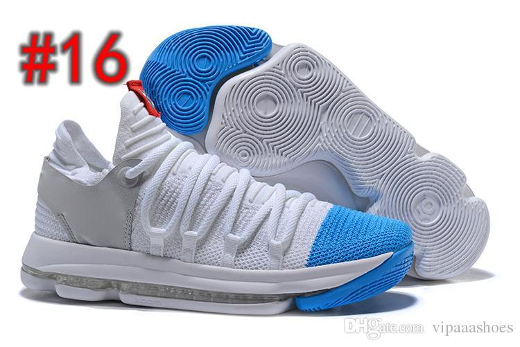 a9c91c3281 Compre NIKE ZOOM KD10 Nike Air Max 2018 Novo Zoom KD 10 Aniversário PE BHM  Oreo Triplo Preto Homens Tênis De Basquete KD 10 Elite Baixo Kevin Durant  Tênis ...