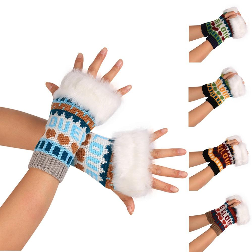 65f6f05e01199 2019 Fashion Knitted Arm Fingerless Winter Gloves Unisex Soft Warm Mitten  100% Brand New And High Quality Convenient, Soft Knitted From Lovesongs, ...
