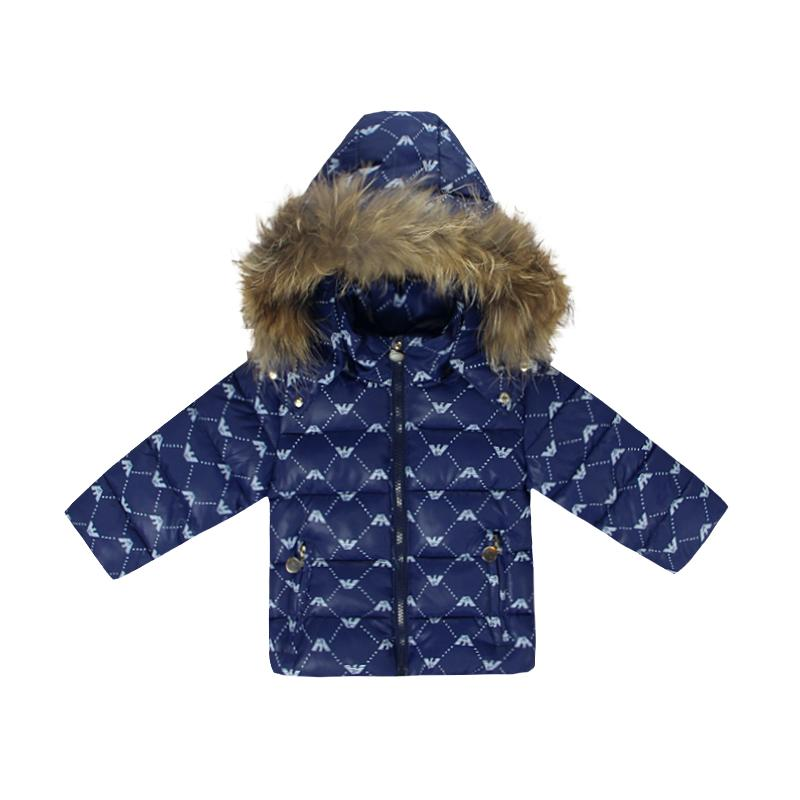 Winter Clothing Set for Girls Flowers Down Coat +Overalls Suits Warm Windproof Snowsuit Toddler Children Ski Suit Sintepon