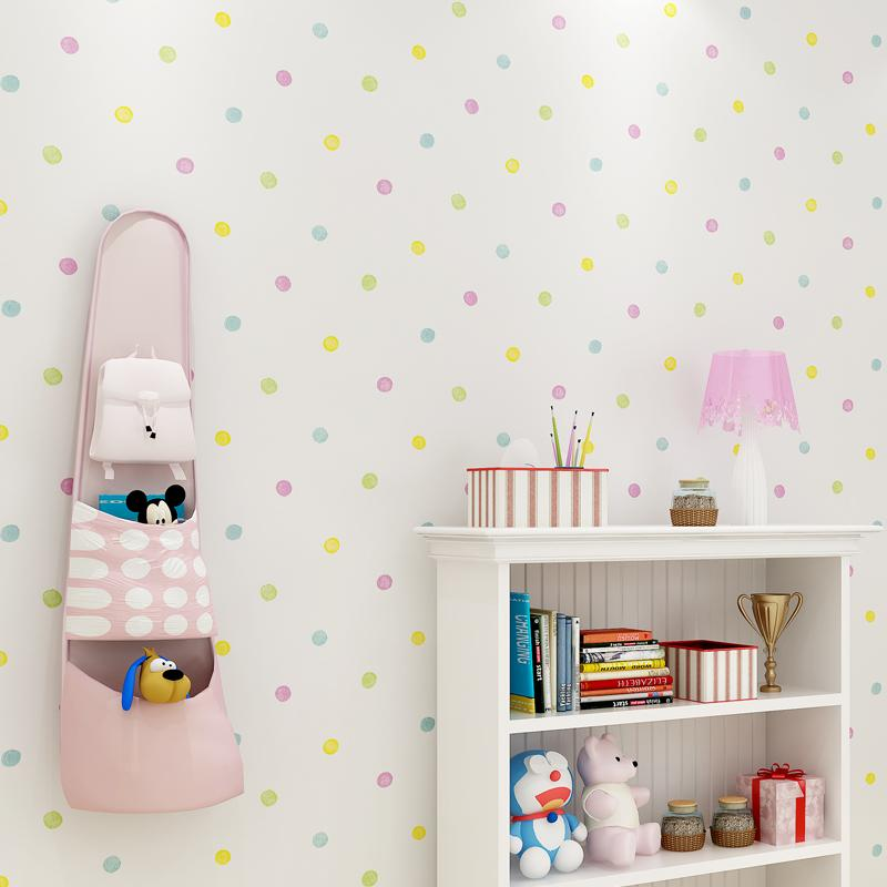 Pleasing 2018 New Colorful Dots Wallpaper Kids Rooms Wall Stickers Baby Bedroom Wallpapers Self Adhesive Children Room Wall Paper Zp112 Download Free Architecture Designs Embacsunscenecom