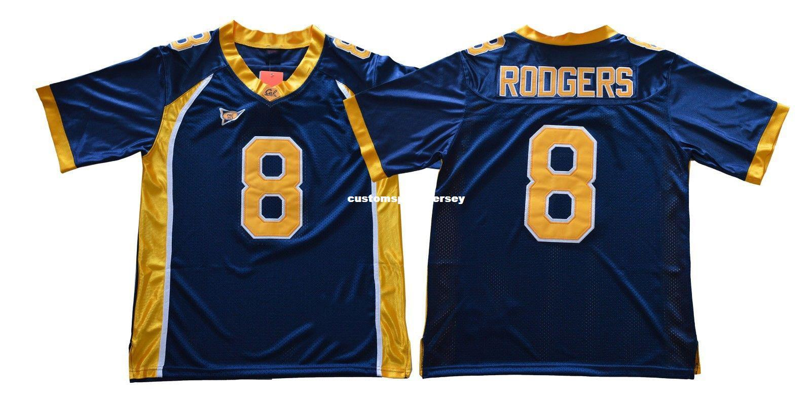 32b04f4bc38 2019 Cheap Custom Aaron Rodgers Jersey  8 California Golden Bears Football  Jersey Stitched Customize Any Number Name MEN WOMEN YOUTH XS 5XL From ...