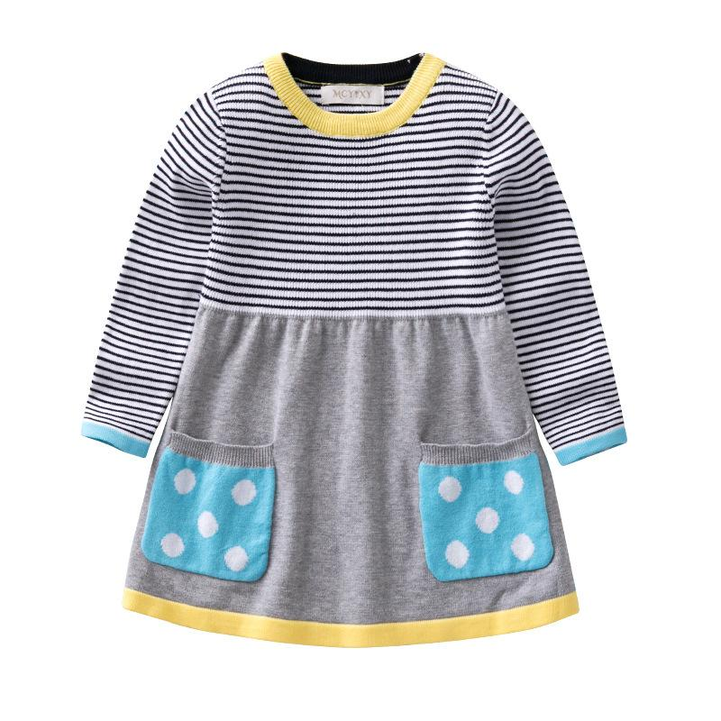 0bd6e114a Children Girls Sweater Dresses 2018 Autumn Winter New Casual Cotton Knitted  Sweaters Baby Girl Clothes For Kids Clothing Toddler Free Toddler Boy Knit  ...
