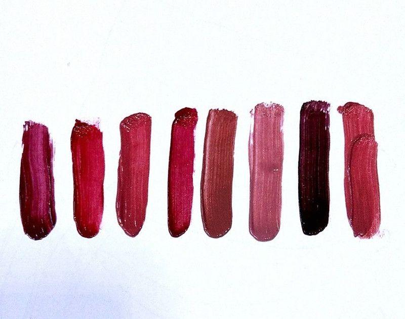 ¡¡¡EN STOCK !! Maquillaje Lápiz Labial Líquido Eight-Studded Set / box Larga duración Cremoso Shimmer Lápiz Labial Líquido de alta calidad ePACKET