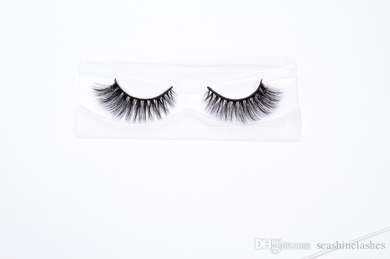 4359e382850 2018 Seashine 100% 3D Mink Makeup Cross False Eyelashes Eye Lashes ...
