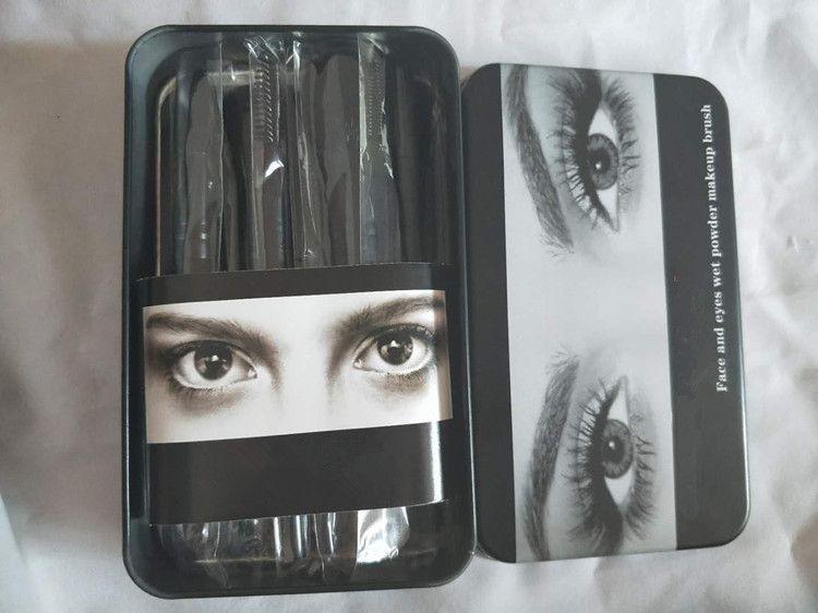 Nude3 Conjuntos de Pincéis de Maquiagem Kit Make Up Brush Set caixa de Metal Embalagem
