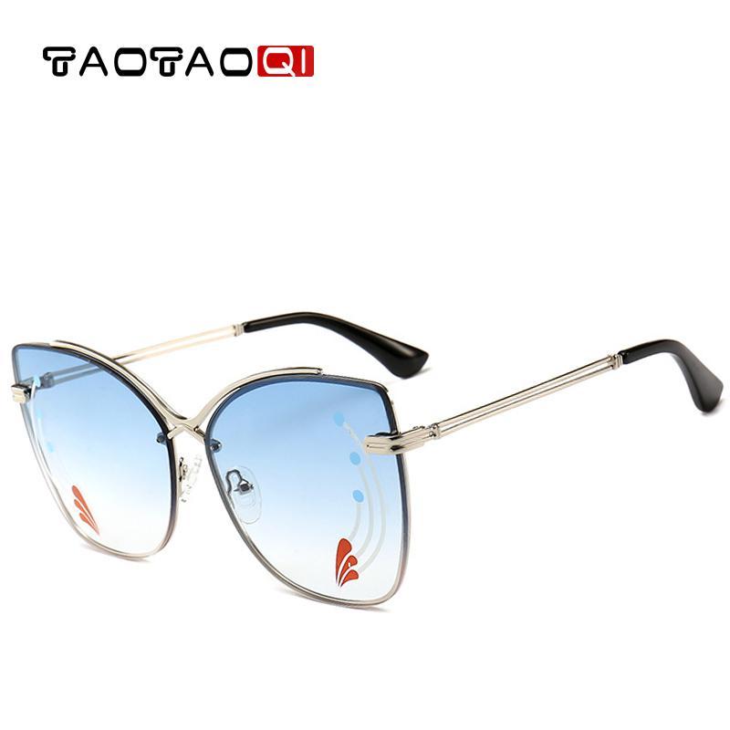 390cf5b5677 TAOTAOQI 2018 Brand Cat Eye Sunglasses Women Designer Metal Vintage  Butterfly Sun Glasses Female Fashion Eyewear Goggles UV400 Kids Sunglasses  Locs ...