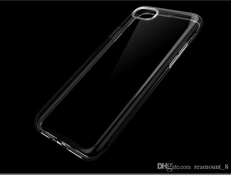 Soft Clear Phone Case For Apple Phone Transparent TPU Back Cover With Custom Box Packaging For IphoneX Iphone6 Plus Case