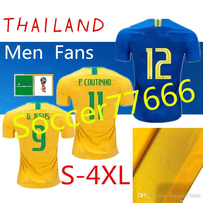57f998b16 AAA S-4XL 2018 World Cup Soccer Jerseys  20 FIRMINO Home Yellow Away ...