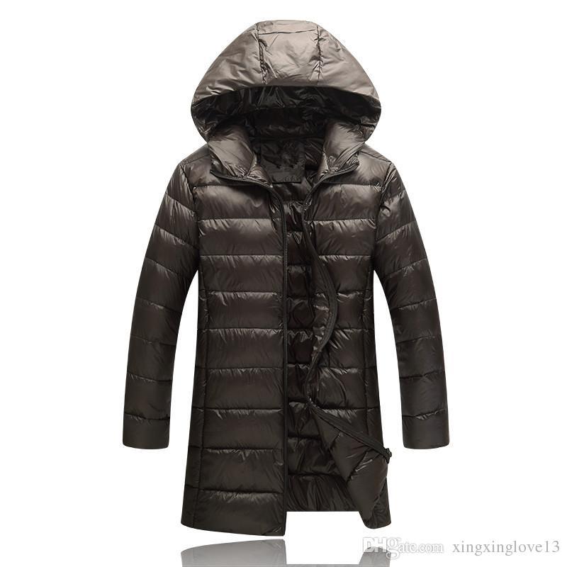 1543782e5 2018 north classic marca hombres invierno al aire libre blanco pato abajo  chaqueta hombre casual con capucha abajo abrigo prendas de vestir  exteriores ...