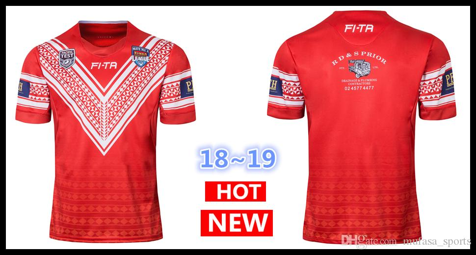 20d116cec44 2019 2018 2019 MATE MA A TONGA NATIONL RUGBY LEAGUE Jersey PACIFIC TEST Rugby  Jerseys Shirt National Team League Jersey S 5XL From Mufasa sports