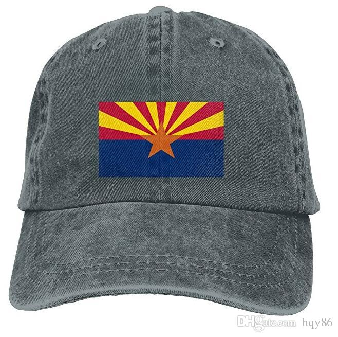 6a00ad67 ... where can i buy men women classic denim arizona state flag adjustable  baseball cap dad hat ...