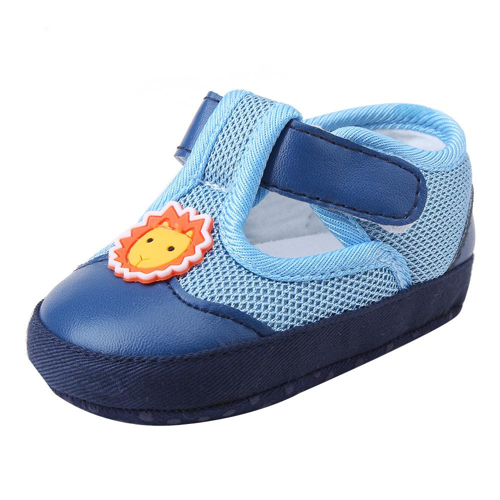 Sneakers Kinderschoenen.Infant Baby Boys Girl Cartoon Gridding Shoes Soft Sole Anti Slip