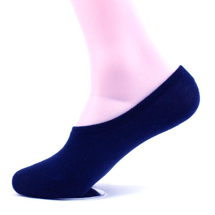 Новое лето с низкой талией короткие трубки мужские стелс неглубокие носки хлопчатобумажные носки горох обувь повседневная сплошной цвет силикагель мужские носки