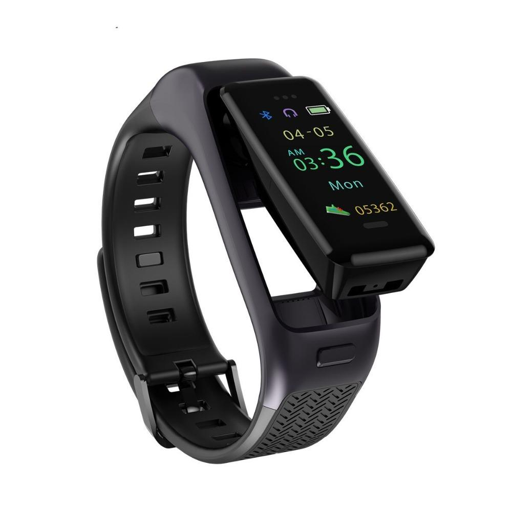 Original iBand Smart Wristband with Headset Sleep Monitor Smart Watch  Headset for ios android Smartphone A09 Smartband