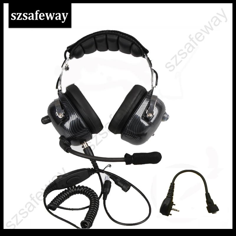 High Quality Heavy Duty Two Way Radio Noise Cancelling Headset With