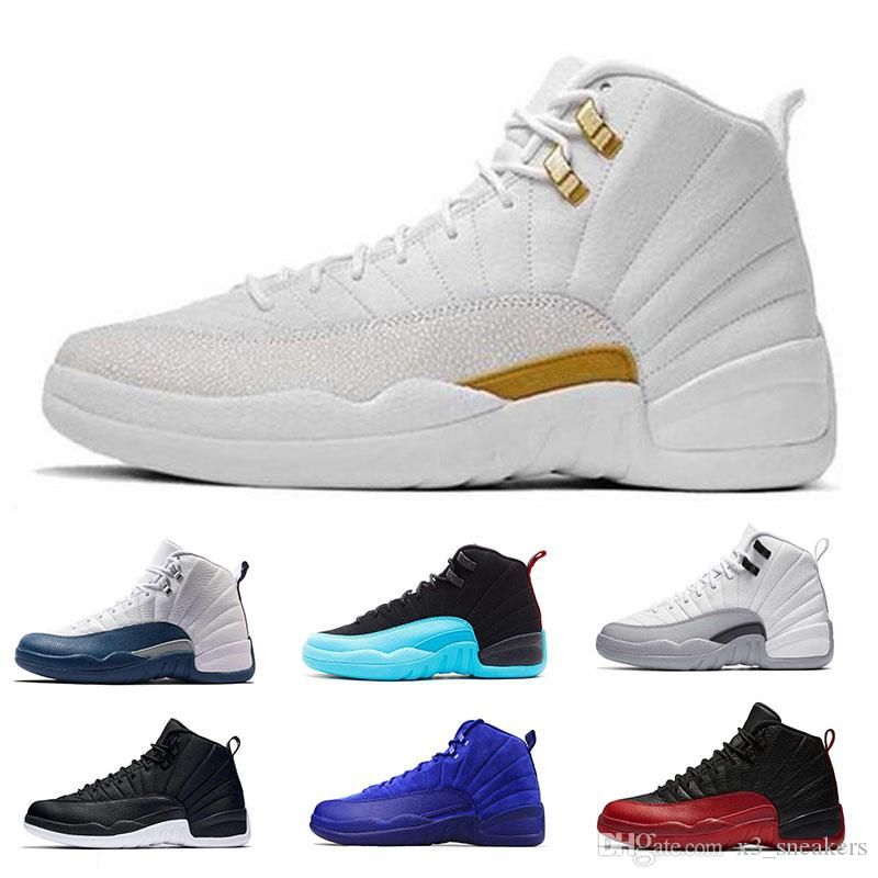 differently 04ec3 d8208 usa air jordan 12 rot f56b3 01011  australia großhandel 2018 neue mens nike  air jordan 12 retro basketball shoes basketball schuhe taxi weiß