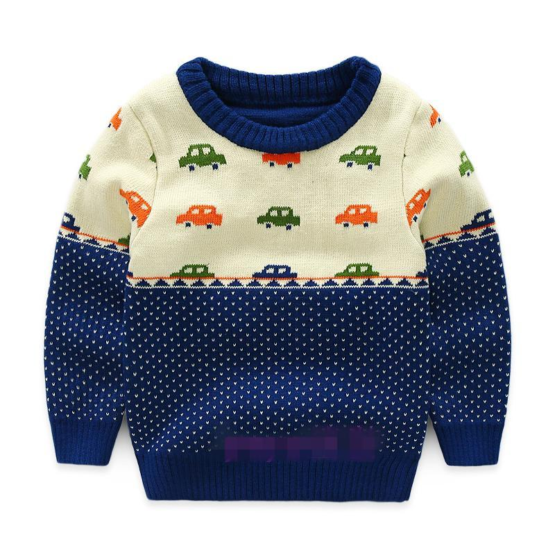 Boys Sweater Autumn Winter Character Turtleneck For Children Double