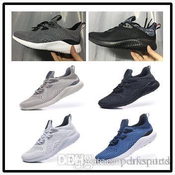 dd5482b1a 2019 Men Alphabounce EM Running Shoe 2018 New Men Casual Training Sneakers  Cheap Discount Running Alphabounce Tan PK Primeknit Shoe From Hxsports