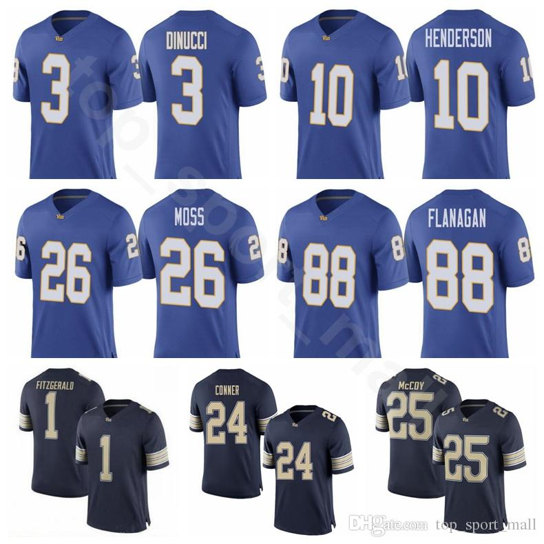 best deals on 5f4cd ee8b2 Men Custom College 13 Dan Marino Jersey Pittsburgh Panthers Pitt Football  24 James Conner 25 LeSean McCoy 25 Darrelle Revis 28 Dion Lewis