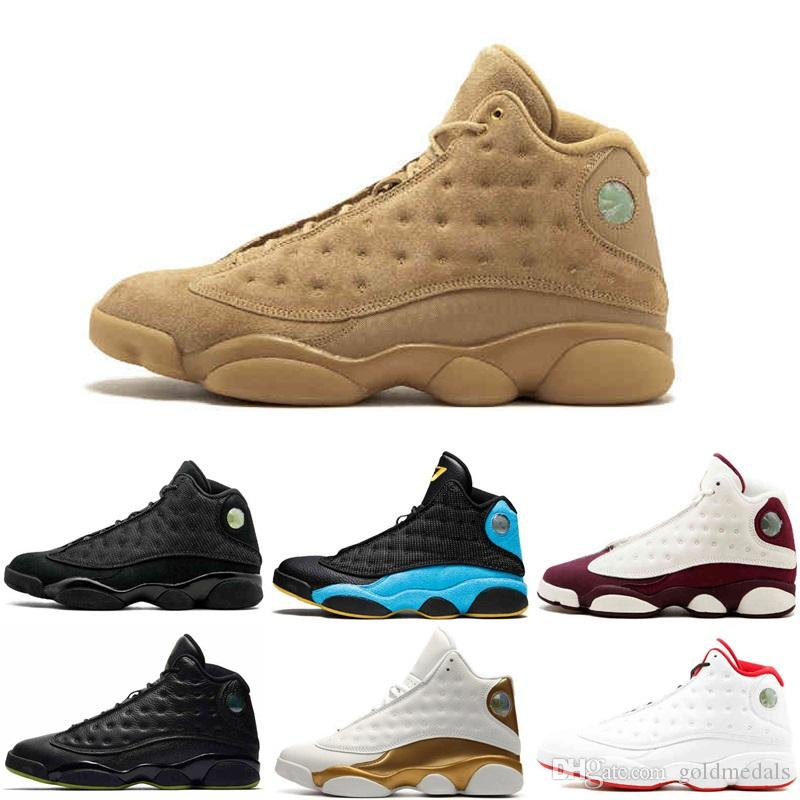 31d0ec36d12 13 XIII 13S Men Basketball Shoes Women Bred Black Brown White Hologram  Flints Grey Toe Hyper Pink Italy Blue Barons Hologram Sports Sneakers  Basketball ...