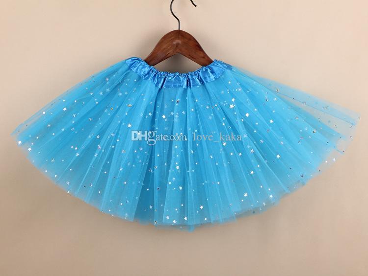 DHL 무료 신생아 소녀 스파클 글리터 스팽글 스타 댄스 발레 툴레 투투 스커트 프린세스 드레스 투투 드레스 paillette 스커트 의상