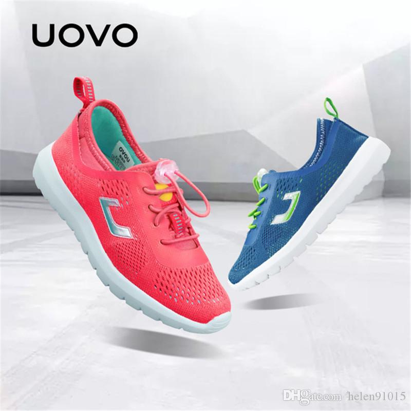 94741020c342 UOVO 2018 Summer Breathable Kids Running Shoes Fashion Brand Boys And Girls  Casual Shoes Mesh Sport Shoes Sneakers Size 31  37  Boys Casual Clothing  Girls ...