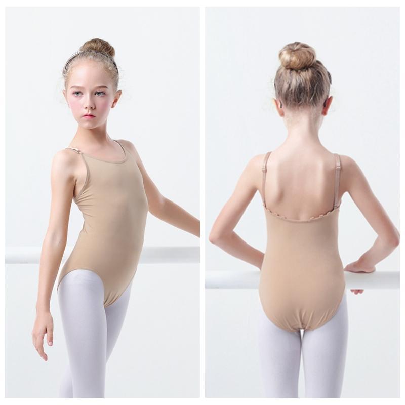 Compre Niñas Niños Ropa Interior De Ballet Desnudo Camisola Leotardo ...