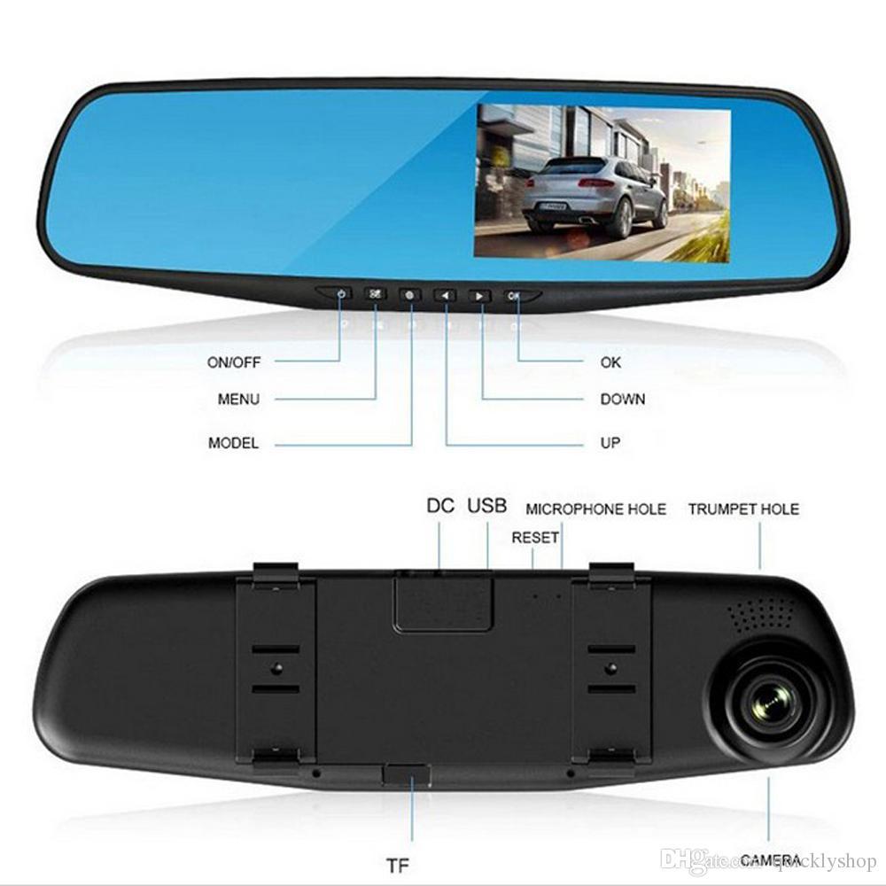 Car DVR Rear View Mirror DVR with 2 Cameras Dashcam 1080P Video Registrator Recorder G-sensor Motion Detection Dash cam