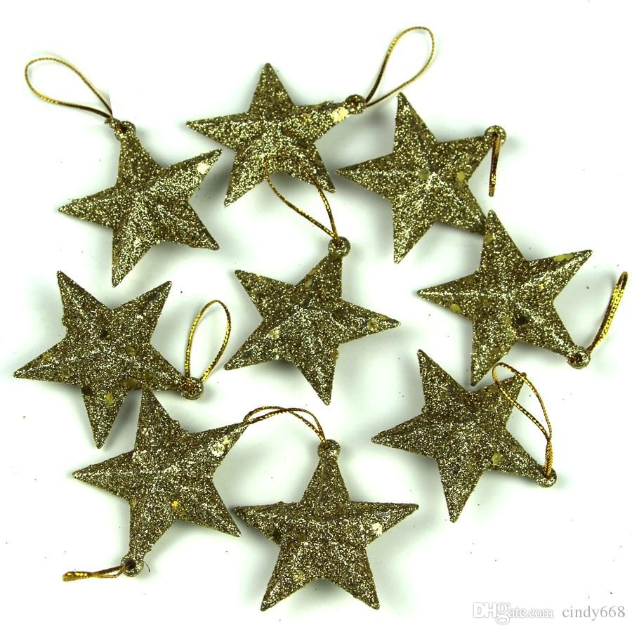 2018 New Year Decorations 5 Cm Little Stars With Sequins Bag 4