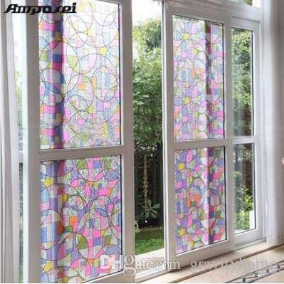 45x200cm Privacy Textured Static Cling Stained Glass Window Film Home Decor UV Anti Sticker FF Cool Car Stickers Decals From
