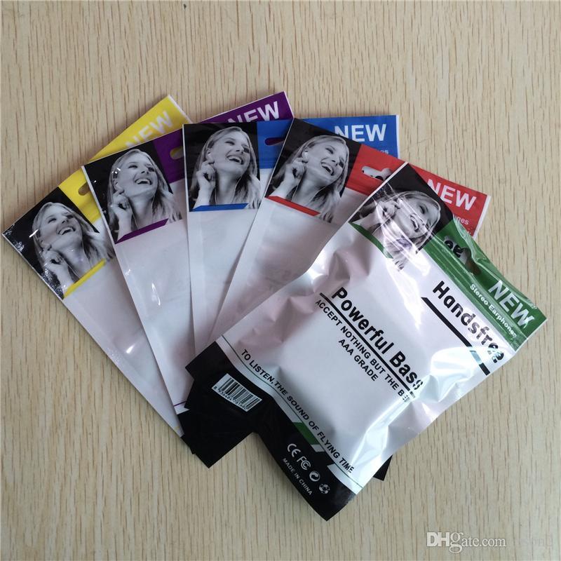 10,5 * 15 centímetros fone retalho pacote de saco de embalagem Zipper saco de embalagem de plástico pacote retalho poli opp para fone cabo USB auscultadores