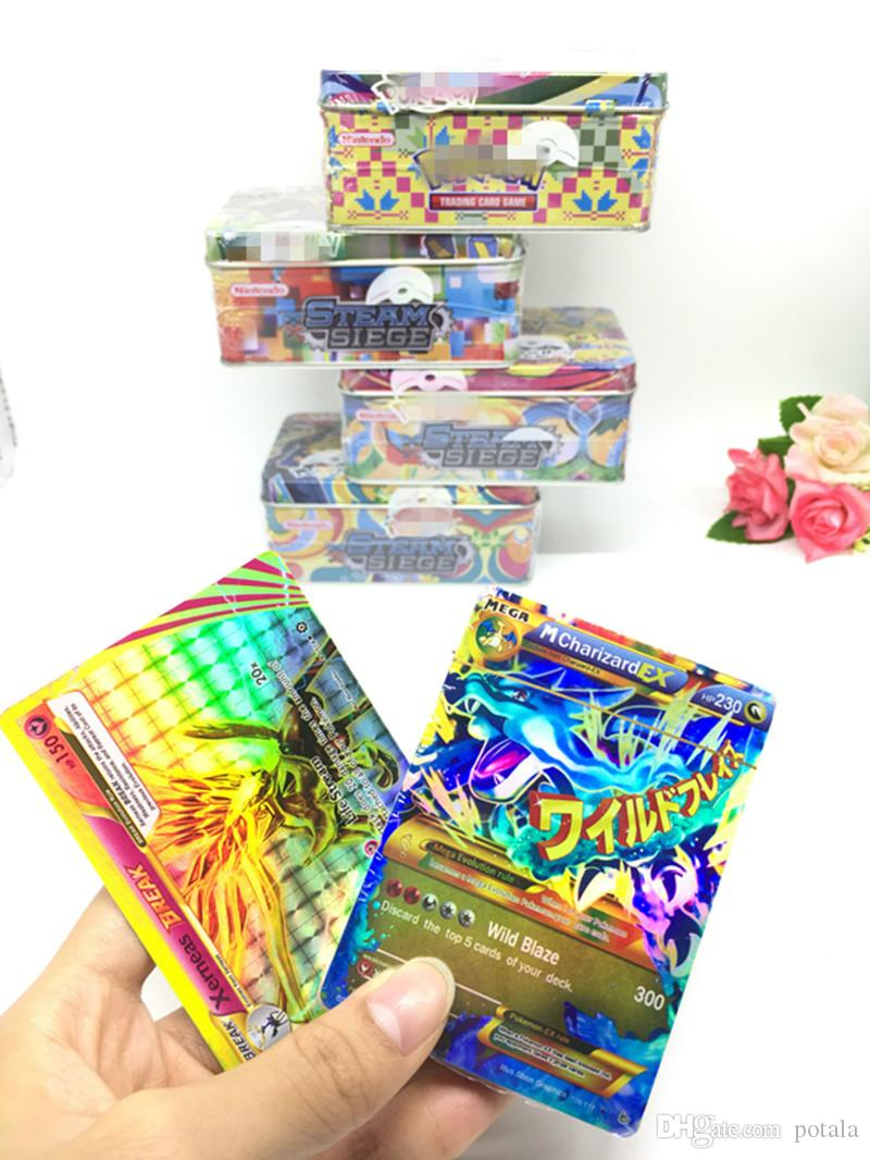 Trading Cards Games Evolutions Steel box guess anime juguetes board games cards against muggles Anime Pocket Monsters Toys poker