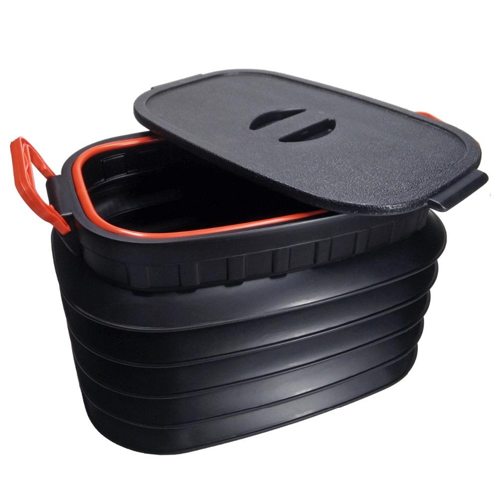 Perfect 18L Car Folding Washing Bucket Storage Box Collapsible Rear Auto Trunk Boot  Organizer Portable Outdoor Camping