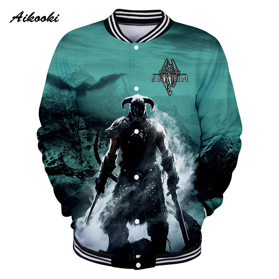 b8b2708dba793 Aikooki The Elder Scrolls V Men 3D Jackets Coon Jacket Sweatshirt 3D mens  Jackets Baseball Winter Autumn Fashion Cool Clothes