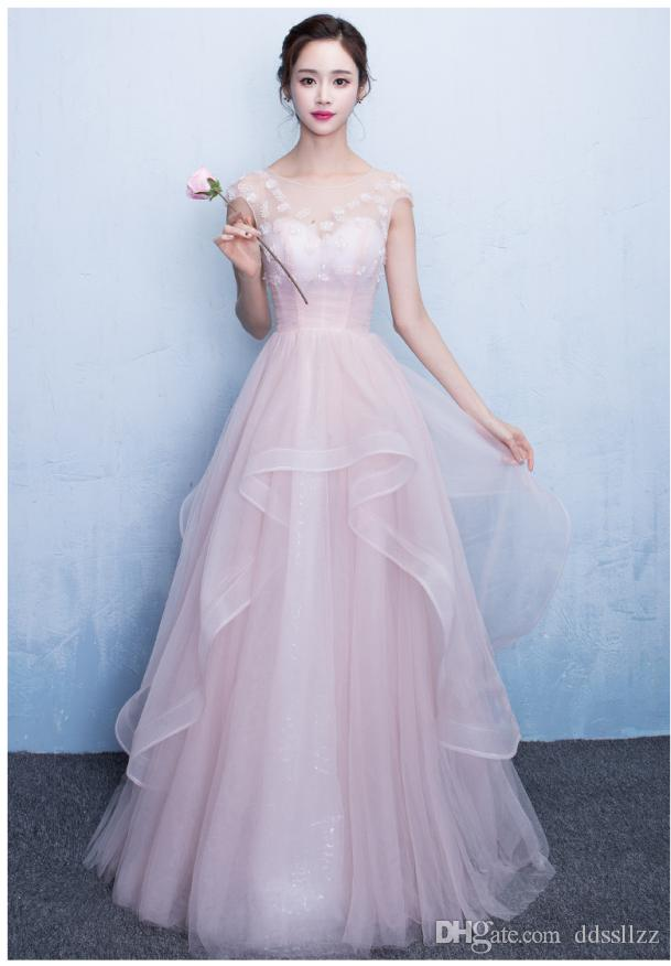 Großhandel 2017 Lange Mode Elegant Rosa Geburtstag Zeigen Dünne ...