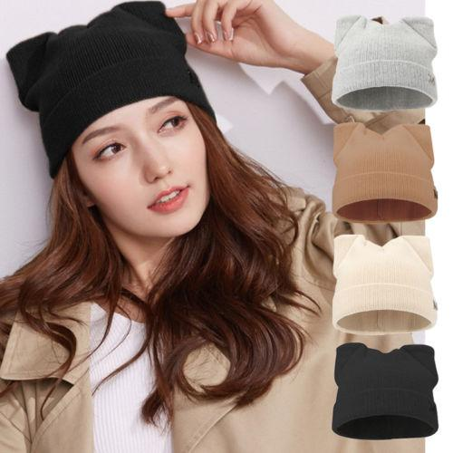 Fashion Warm Winter Women Beanies 2018 New Solid Braided Baggy Knit Crochet  Beanie Hat Ski Cap Snow Hat US Skull Cap Beanie Boo From Amoywatches d67f861934e