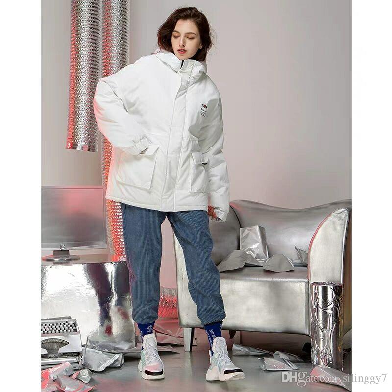 bfca3317bd8 2018 новый белый хлопок мягкий куртка зимнее пальто женщины подушка мягкий  платье студентки корейской версии свободные bf хлопок одежда прилив