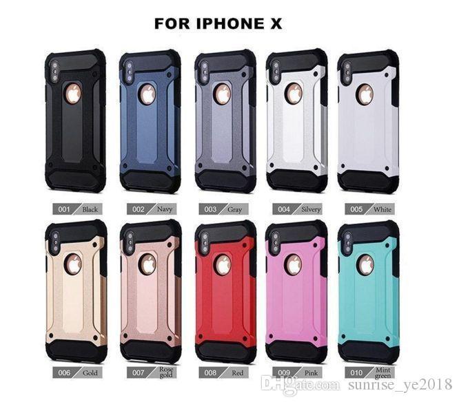 Гибридный броня чехол для iPhone Х 7 7Plus 6С 6sPlus для Samsung Примечание 8 S8Plus С7 С8 ТПУ ПК гибридный защитный чехол