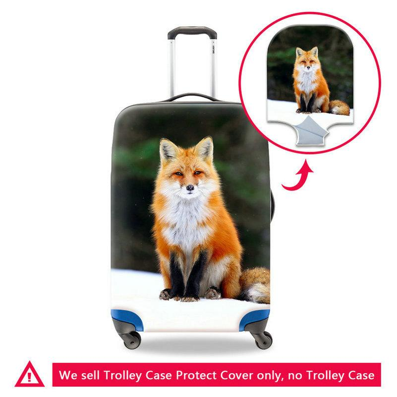 Anti-scratch Suitcase Protect Cover Dustproof Luggage Trunk Box Covers Zippered Waterproof Trollley Case Protector Fit 18-30 Inch