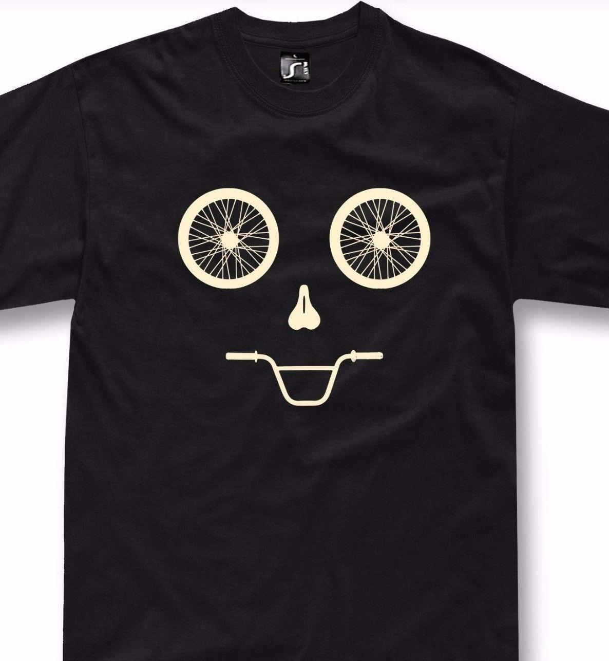 Funny Bicycle T Shirt Mtb Mountain Bike Gift Bmx Funny Face Cycling