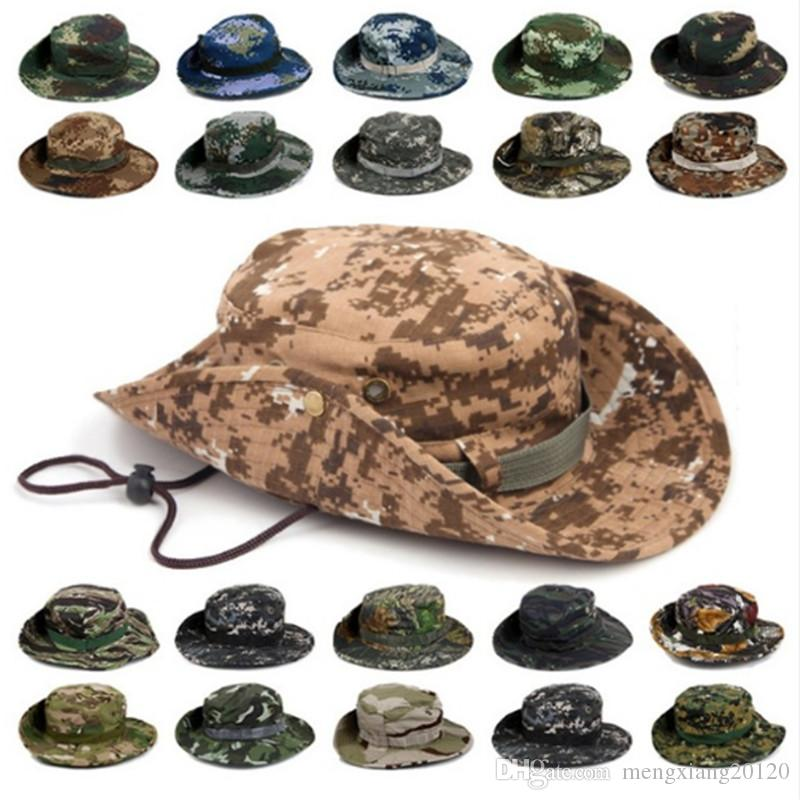 eec009a2e7c 2019 Outdoor Sports Men   Women S Fishing Hat Camouflage Bucket Hat  Fisherman Camo Ripstop Jungle Bush Hats Boonie Wide Brim Sun Caps From  Mengxiang20120