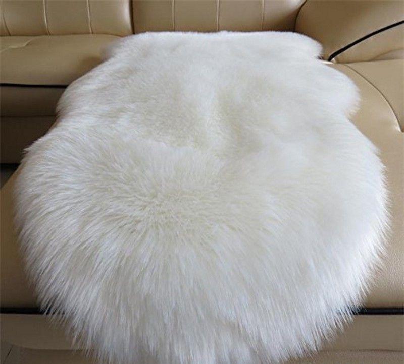 Faux Fur Sheepskin Rug Kids Carpet Soft Faux Sheepskin Chair Cover