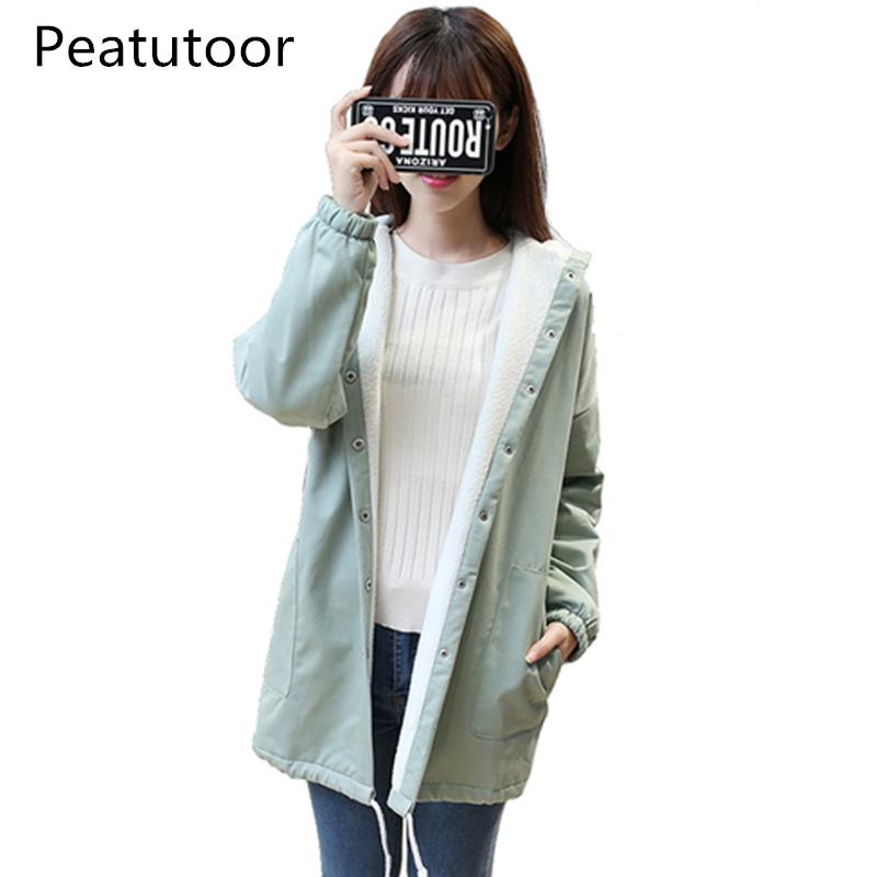 b8721305f00 2018 Women Parkas Winter Coats Hooded Casual Thick Cotton Warm Cashmere  Female Jacket Fashion Long Wadded Coat Outwear Plus Size Online with   93.44 Piece on ...