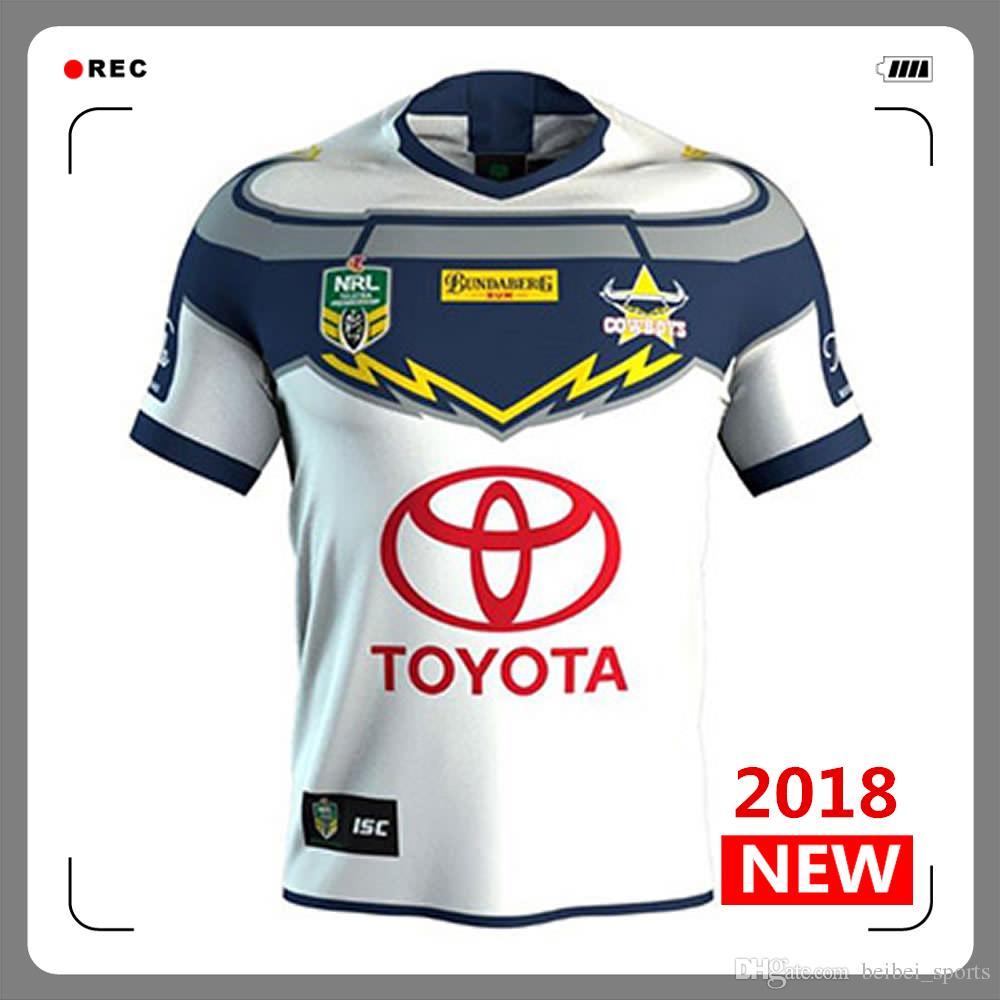 North Queensland Cowboys Rugby Jerseys 2018 2019 Home Away Jersey ... 3b2de6583